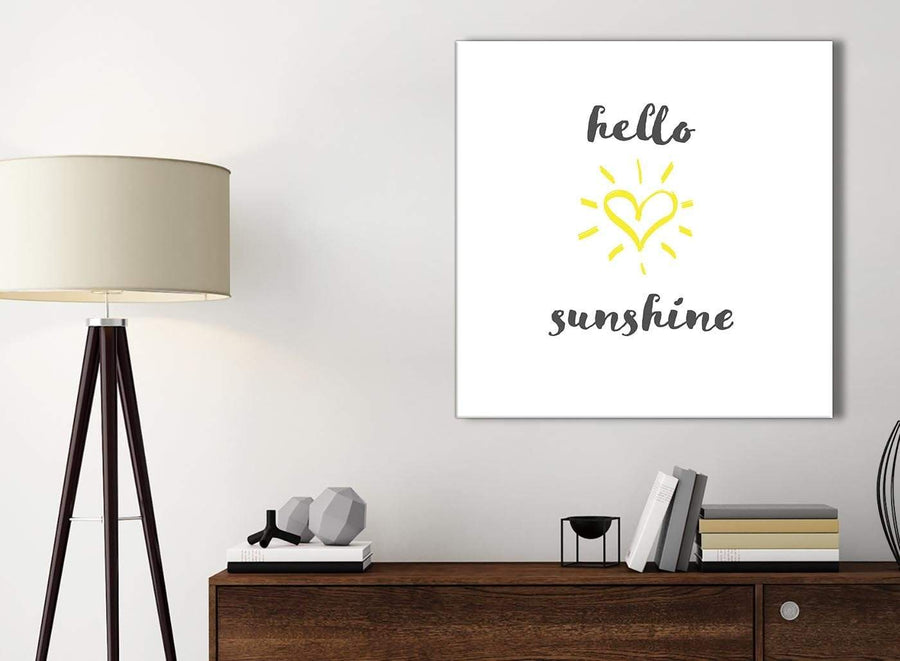 Small Canvas Prints Hello Sunshine - Word Art - 1s509s - 49cm Square Wall Art
