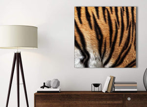 Small Canvas Prints Tiger Animal Print - 1s472s - 49cm Square Wall Art