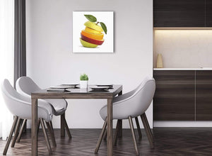 Small Canvas Prints Sliced Fruit - Apple Shape Food Stack - Kitchen - 1s483s - 49cm Square Wall Art