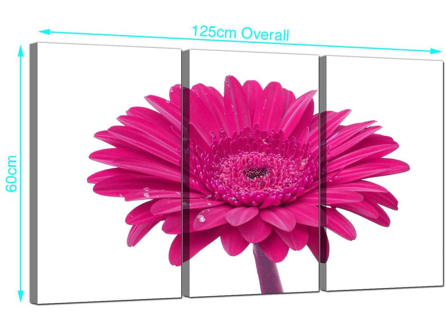Set of Three Gerbera Canvas Prints 125cm x 60cm 3099
