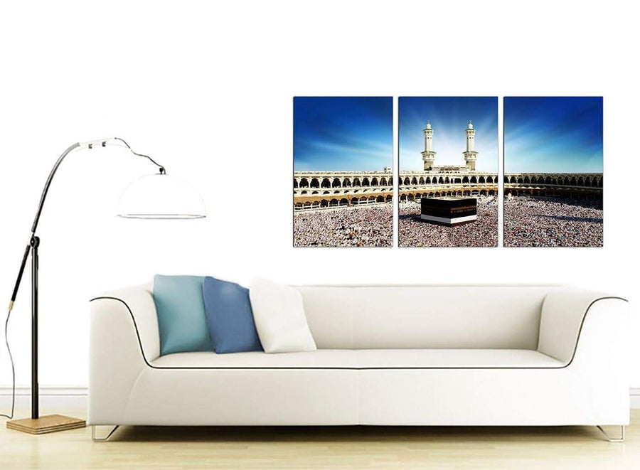 3 Panel Islamic Canvas Pictures 125cm x 60cm 3191