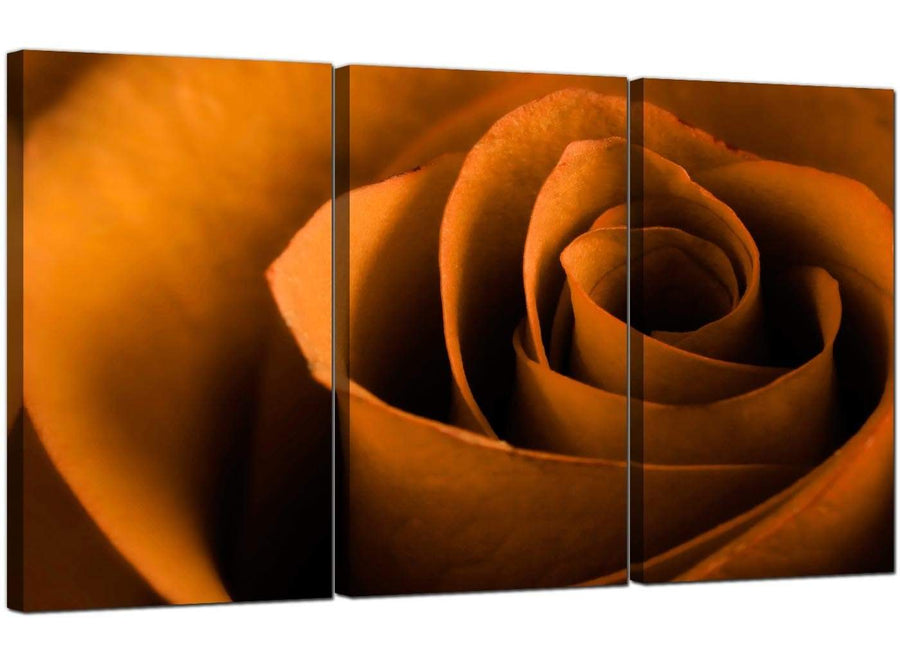 3 Panel Floral Canvas Wall Art Rose 3141