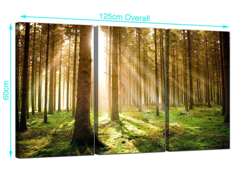 Set of 3 Forest Canvas Wall Art 125cm x 60cm 3042