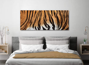 Tiger Animal Print Canvas Art Pictures - 1472 - 120cm Wide Print