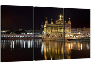 Set of 3 Sikh Canvas Art Golden Temple India 3195