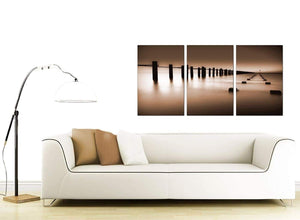 3 Part Seascape Canvas Pictures 125cm x 60cm 3088