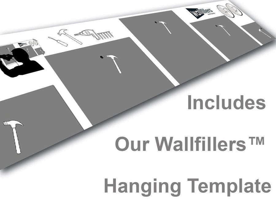 Wallfillers 5 Part Hanging Template