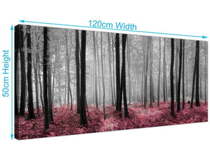 Woodland trees scene canvas