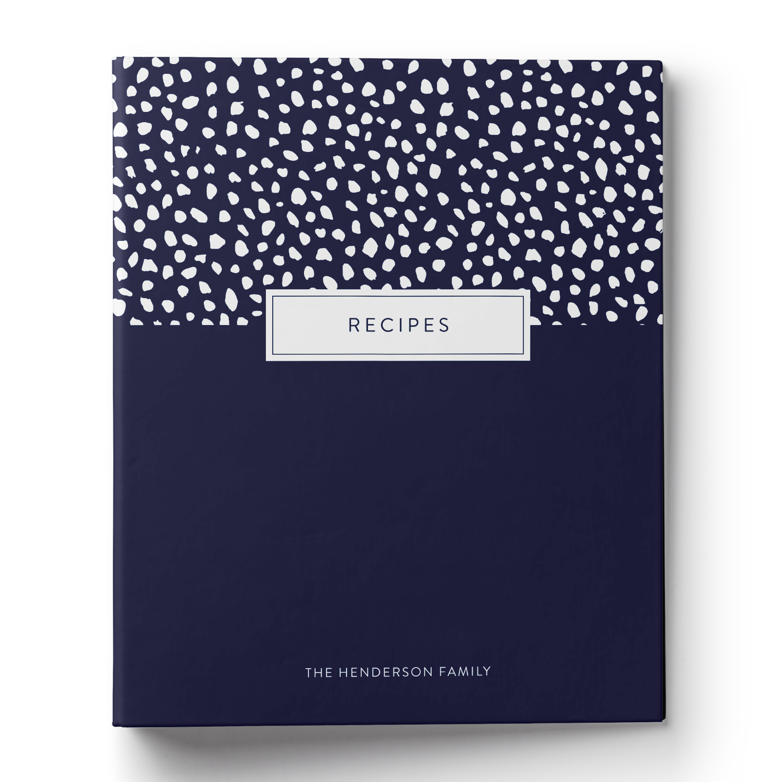Spotted Dot Recipe Binder
