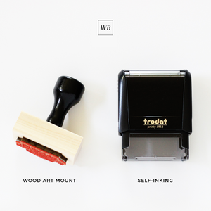 No. 81 Minimalist Address Stamp