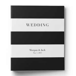 Striped Wedding Planning Binder