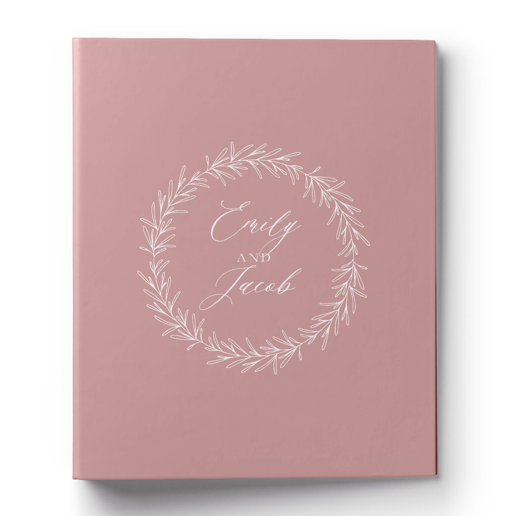 Rustic Wreath Wedding Planning Binder