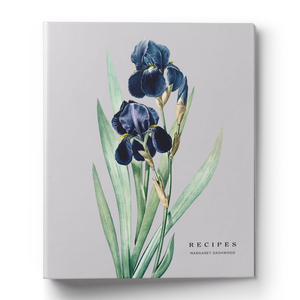 Botanical Iris Recipe Binder