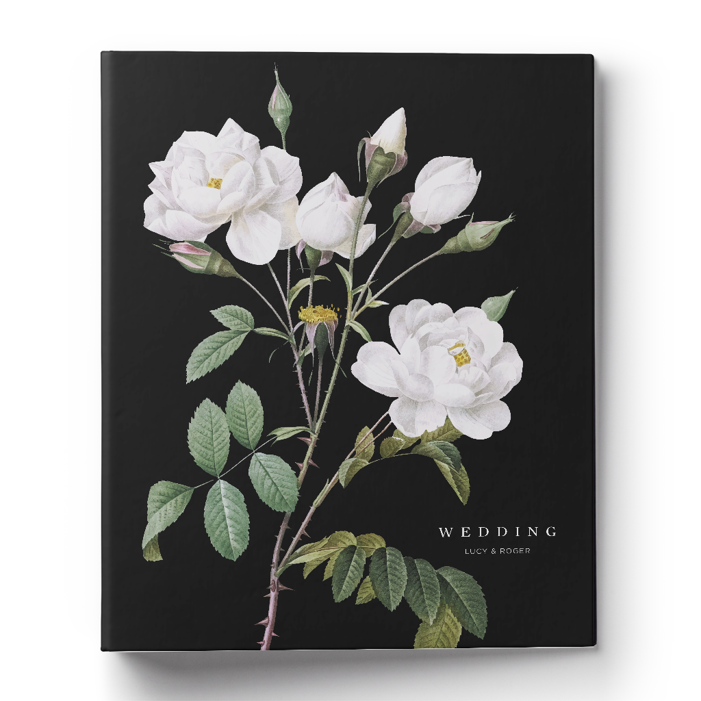 Botanical Roses Wedding Planning Binder