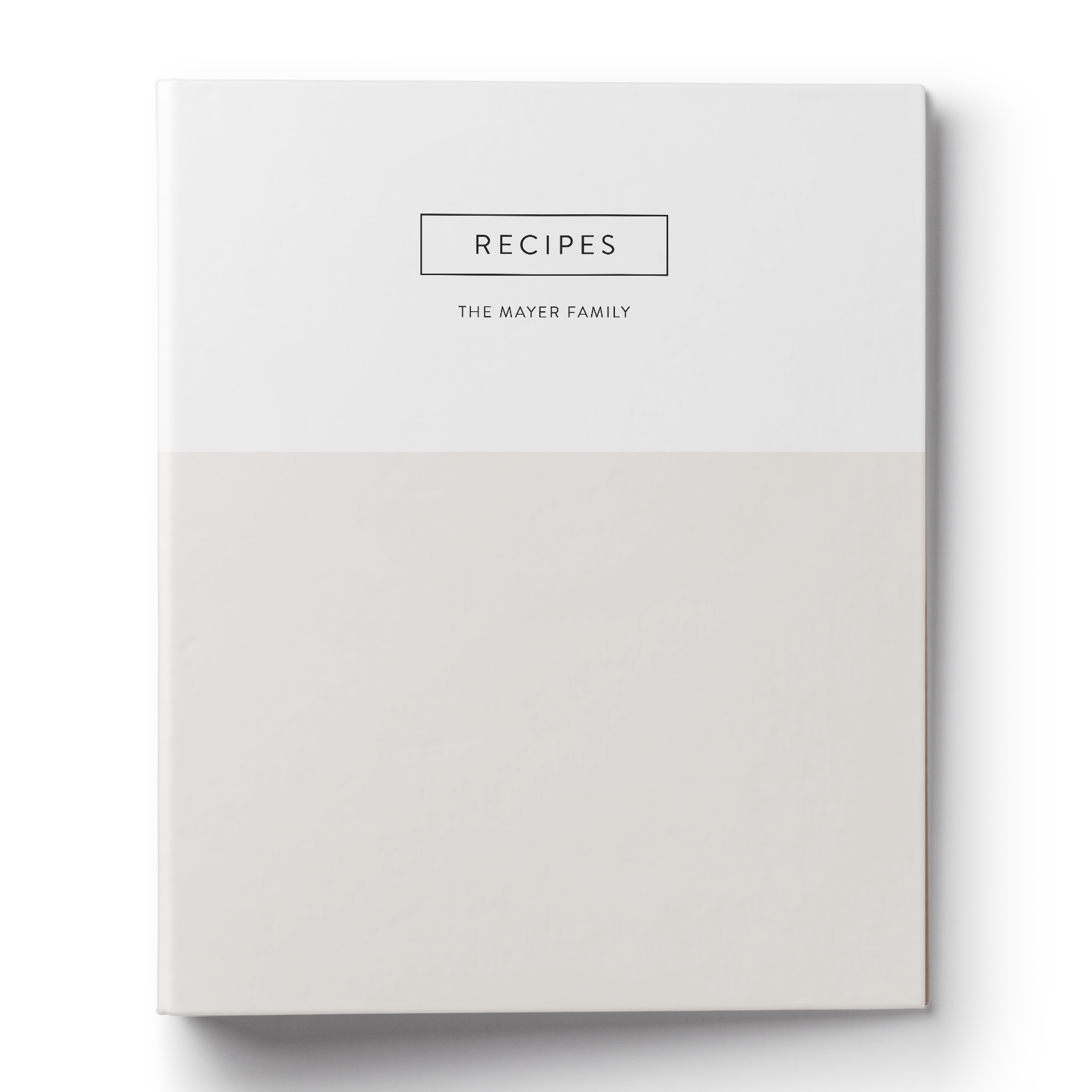 Modern Colorblock Recipe Binder & Printable Recipe Card