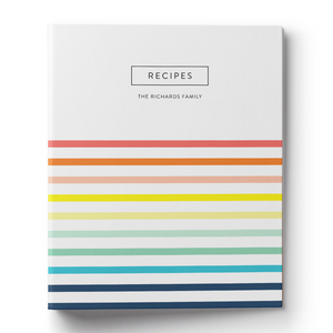 Rainbow Stripe Recipe Binder & Printable Recipe Card
