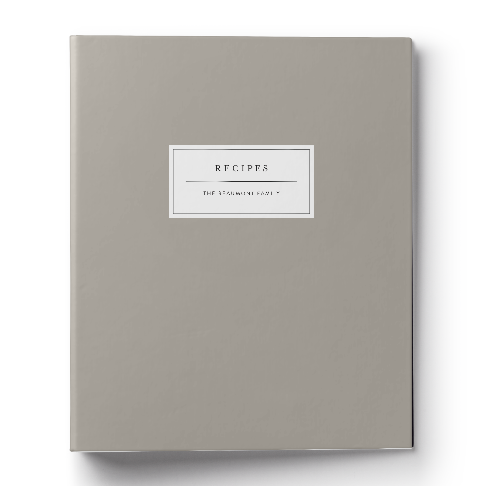 Modern Label Recipe Binder