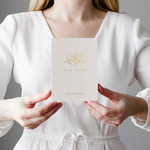 Minimalist Floral Wedding Vow Book Set