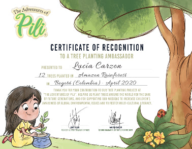 Tree Planting Gift Certificate - The Adventures of Pili