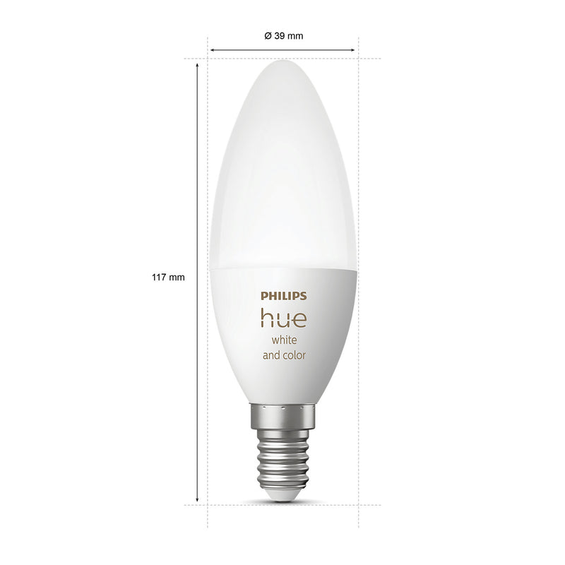 Philips Hue White and color ambiance E14 pære hos butik24