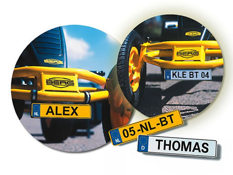 Personalised BERG License plate kit