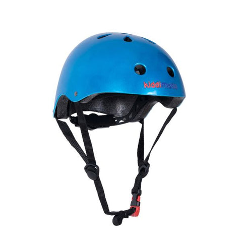 Kiddimoto Metallic Blue Safety Helmet