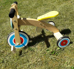 Blue Wooden Tricycle