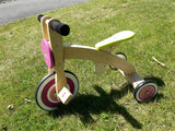 Berry Pink Wooden Tricycle