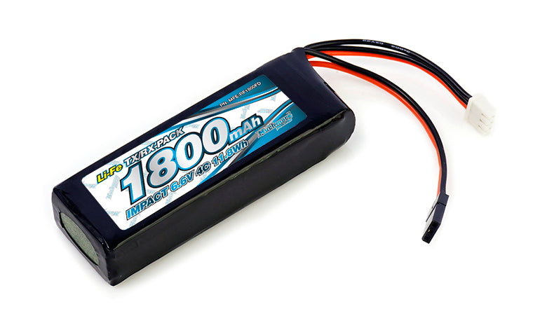 Muchmore IMPACT Li-Fe Battery 1800mAh/6.6V 4C Flat Size for Tx & Rx