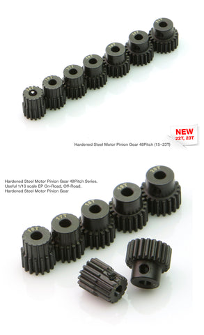 Muchmore Hardened Steel Motor Pinion Gear - 15T- 23T (48Pitch)