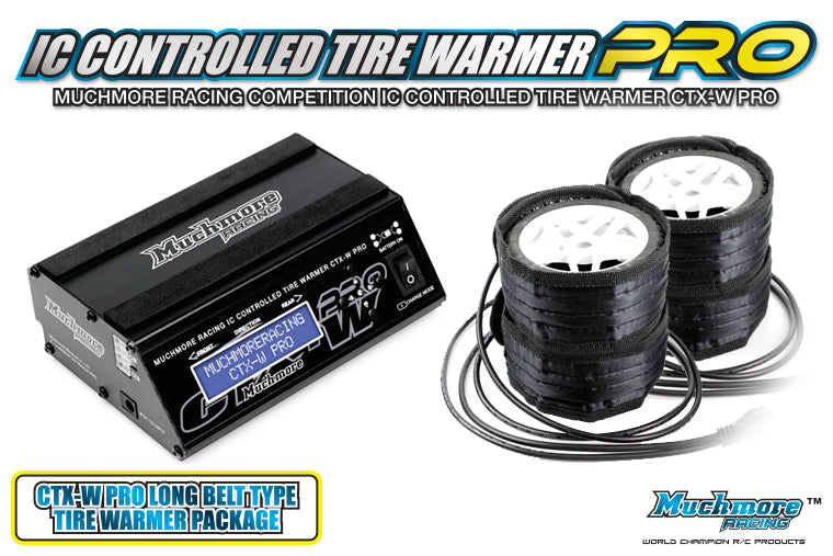 IC Controlled Tire Warmer Pro Long Belt Type for 1/10 Off-Road, 1/8 GT