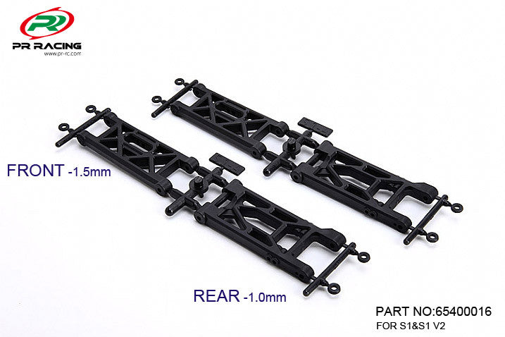 xPRS1 v2 and v3 - Arms (Front & Rear) (2 pairs)