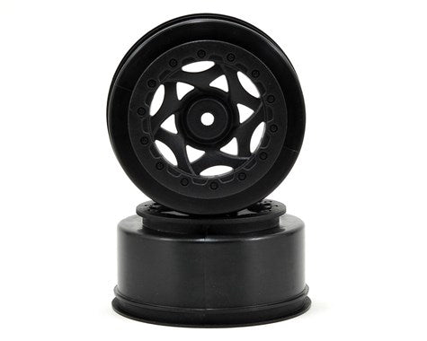 AKA 12mm Hex Cyclone Short Course Wheels (Black) (2) (22SCT/TEN-SCTE/SCT410)