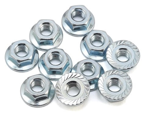 Team Associated M4 Serrated Wheel Nuts (10)