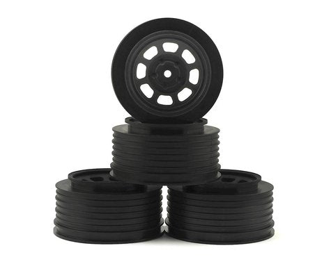 DE Racing Speedway SC Dirt Oval Wheels (Black) (4) (+3mm Offset/29mm Backspace) (SC10/SC5M) w/12mm Hex