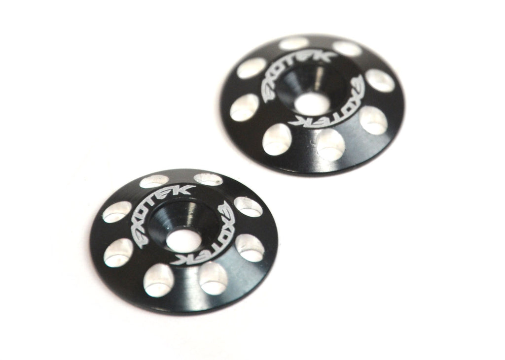 Flite Wing Buttons V2, 6061 Aluminum, Black Anodized