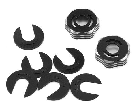 JConcepts RC8B3/RC8T3 Suspension Arm Cap & Camber Shim Set (Black)