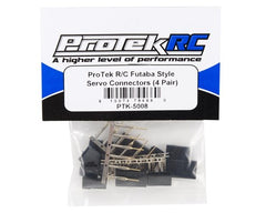ProTek RC Futaba Style Servo Connectors (4 Pair)