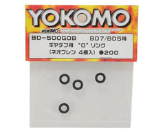 Yokomo Gear Differential O-Ring (4) (Neoprene/Black)