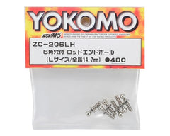Yokomo 14.7mm Socket Head Ball Stud Set (6) (Size L)
