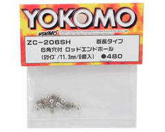 Yokomo Hexagon Socket Rod End Ball (6) (S Size/11.3mm Length)