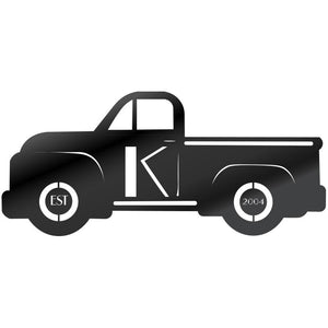 Personalized Metal Truck Wall Art – side view - open spaces metal art