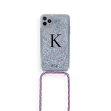 Glitter Case With Crossbody Rope