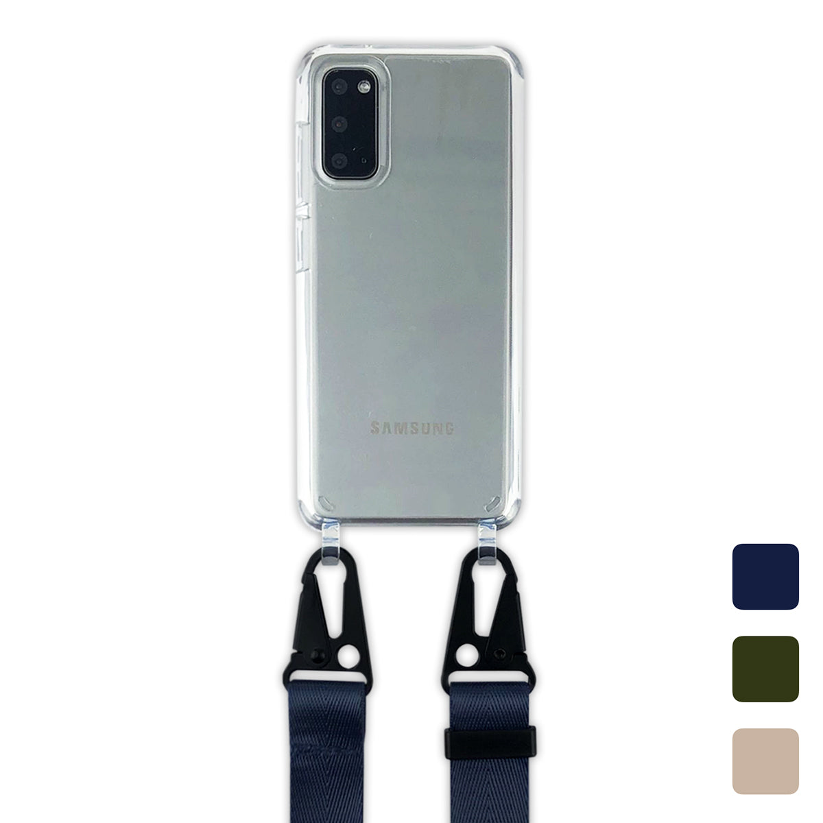 Samsung : Clear Case with Sling : Repeat Pattern