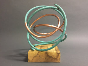 Copper in Verdigris Orb 176