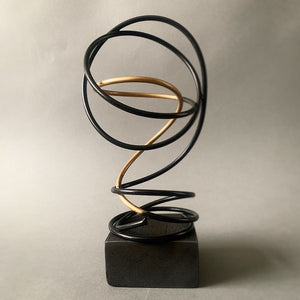 Gold in Black Spiral