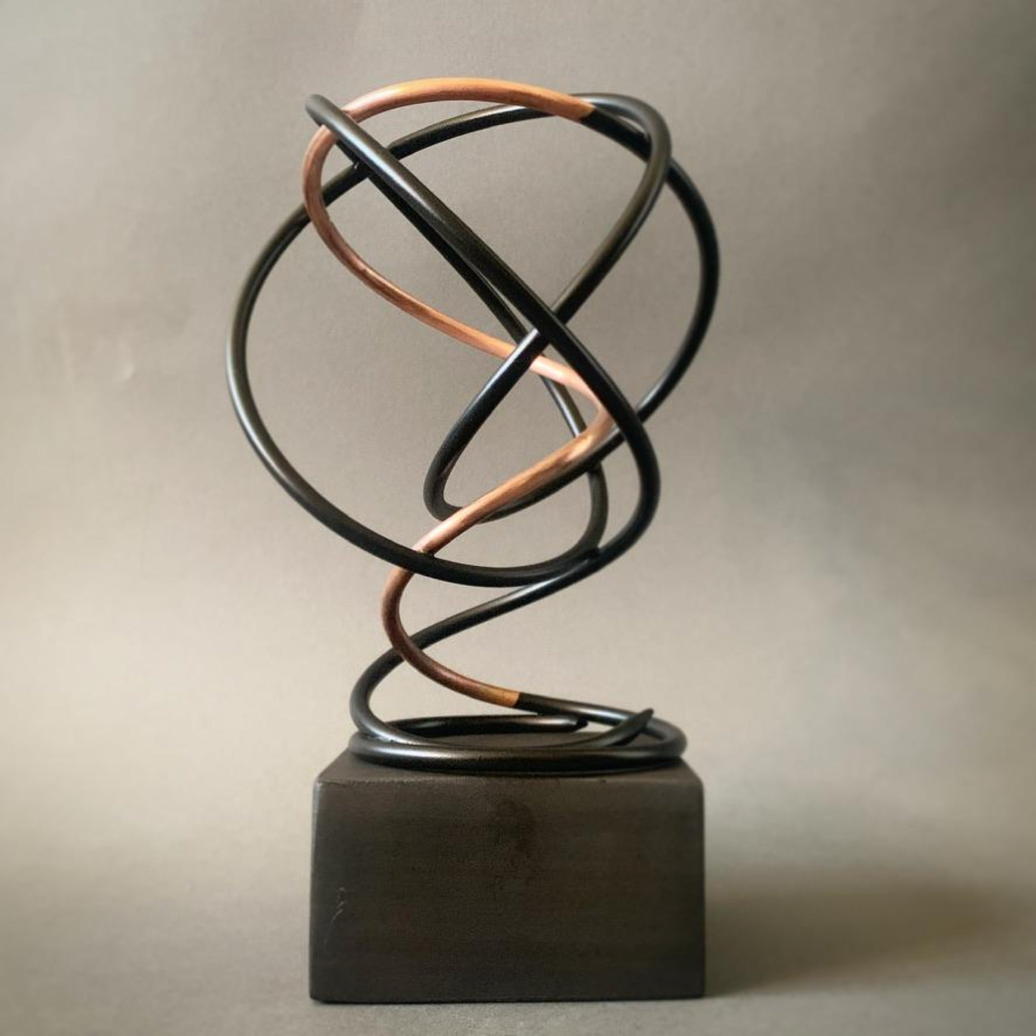 Copper in Black Spiral