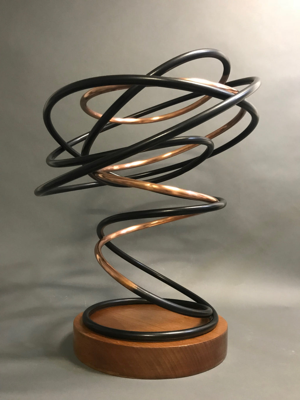 Copper and Black Spiral