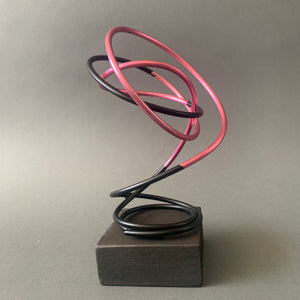 Pink in Black Spiral II