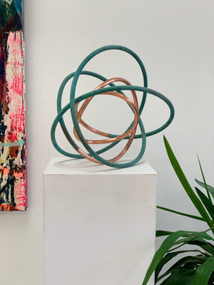 Copper in Verdigris Orb IX